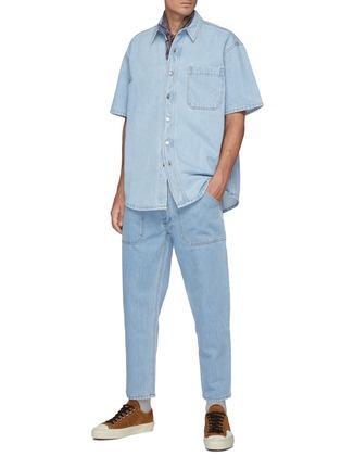 模特儿示范图 - 点击放大 - NANUSHKA - AVERY牛仔短袖衬衫