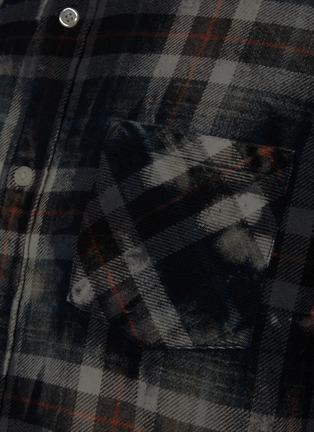 - R13 - 泼墨须边格纹衬衫