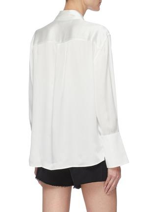 背面 - 点击放大 - FRAME DENIM - 拼贴口袋真丝衬衫