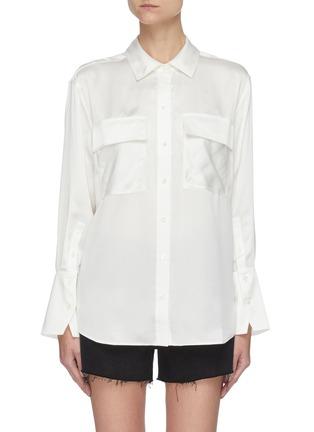 首图 - 点击放大 - FRAME DENIM - 拼贴口袋真丝衬衫