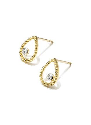 细节 - 点击放大 - AS29 - Essential钻石18k金镂空几何造型吊坠耳环