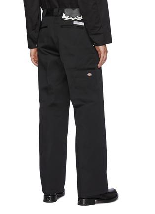 背面 - 点击放大 - TOGA VIRILIS - logo拼贴铆钉饰边褶间阔腿裤