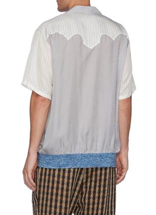 背面 - 点击放大 - TOGA VIRILIS - 拼色条纹几何拼贴短袖衬衫