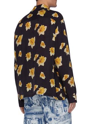 背面 - 点击放大 - TOGA VIRILIS - 花卉图案拼贴口袋衬衫