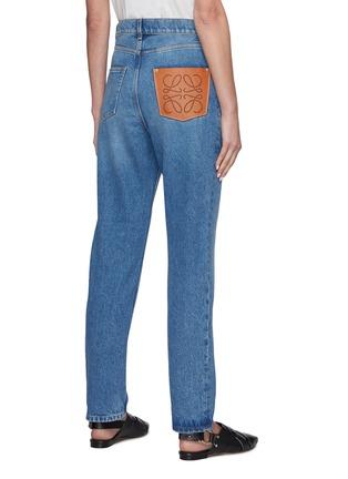 背面 - 点击放大 - LOEWE - 真皮拼贴水洗纯棉锥形牛仔裤