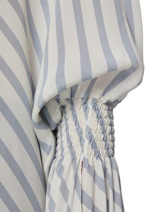 - PETAR PETROV - CASTEL拼色条纹垂坠布饰真丝衬衫