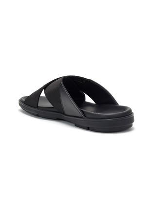 细节 - 点击放大 - PRADA - logo交叉搭带凉鞋