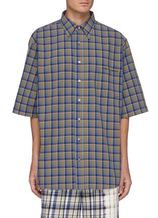 首图 - 点击放大 - ACNE STUDIOS - 拼色格纹拼贴口袋纯棉衬衫