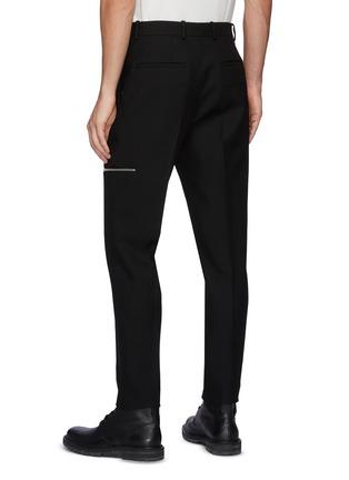 背面 - 点击放大 - JIL SANDER - 褶间拉链装饰羊毛长裤