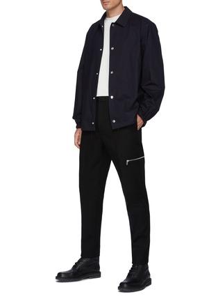 模特儿示范图 - 点击放大 - JIL SANDER - 褶间拉链装饰羊毛长裤