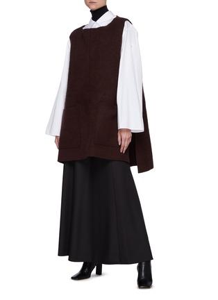 模特儿示范图 - 点击放大 - THE ROW - 无袖羊绒混丝背心式上衣