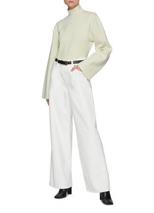模特儿示范图 - 点击放大 - THE ROW - EGLI低腰阔腿牛仔裤