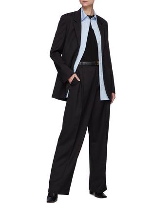 模特儿示范图 - 点击放大 - THE ROW - 混天丝及羊绒T恤