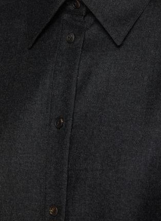 - THE ROW - CAROLINE初剪羊毛法兰绒衬衫