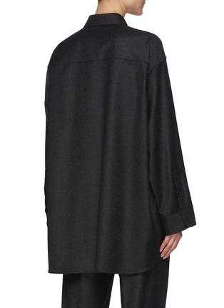 背面 - 点击放大 - THE ROW - CAROLINE初剪羊毛法兰绒衬衫