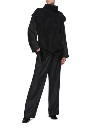 模特儿示范图 - 点击放大 - THE ROW - CAROLINE初剪羊毛法兰绒衬衫