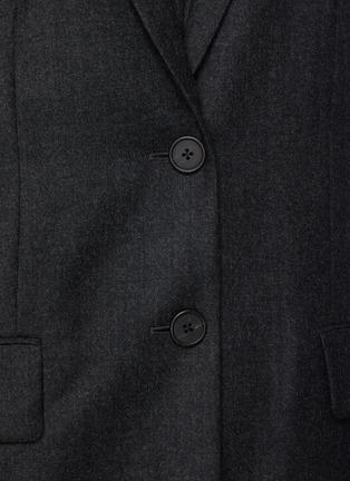 - THE ROW - 单排扣平驳领混初剪羊毛西装外套