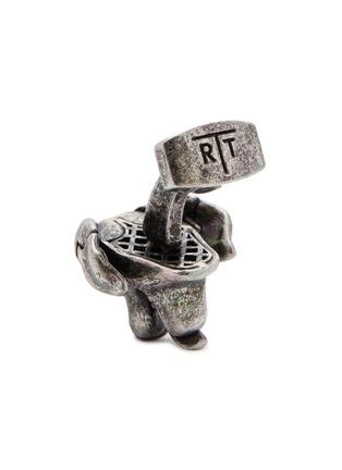 细节 - 点击放大 - TATEOSSIAN - 仿水晶点缀狗狗造型镀铑金属袖扣