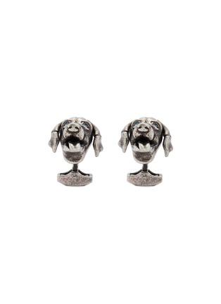 首图 - 点击放大 - TATEOSSIAN - 仿水晶点缀狗狗造型镀铑金属袖扣