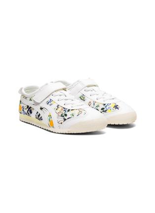细节 - 点击放大 - ONITSUKA TIGER - MEXICO 66儿童款交叉条纹标志花卉图案帆布运动鞋