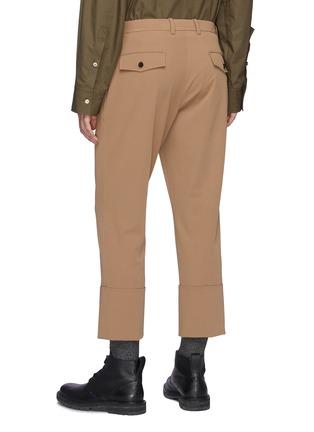 背面 - 点击放大 - WOOYOUNGMI - 半翻折裤脚口褶裥羊毛露踝裤