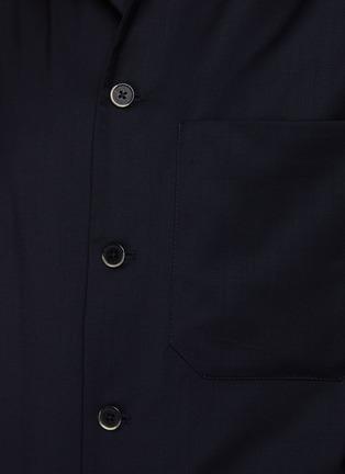 - BARENA - ROCHEO拼贴口袋混初剪羊毛衬衫式夹克