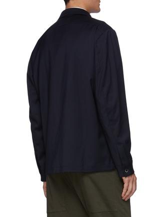 背面 - 点击放大 - BARENA - ROCHEO拼贴口袋混初剪羊毛衬衫式夹克