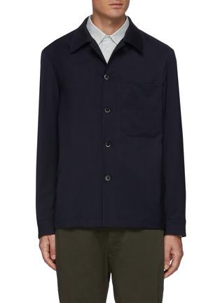 首图 - 点击放大 - BARENA - ROCHEO拼贴口袋混初剪羊毛衬衫式夹克