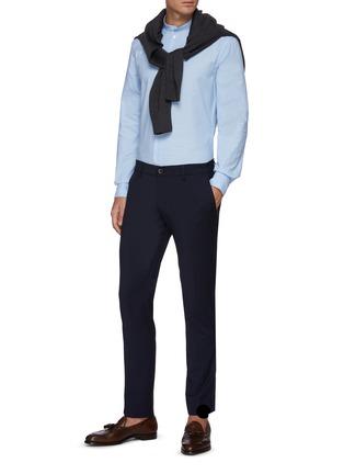 模特儿示范图 - 点击放大 - BARENA - NACI小立领纯棉长袖衬衫