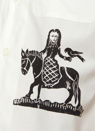 - ALEXANDER MCQUEEN - 版画图案古巴领衬衫