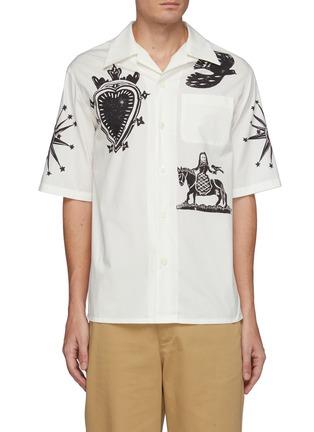 首图 - 点击放大 - ALEXANDER MCQUEEN - 版画图案古巴领衬衫