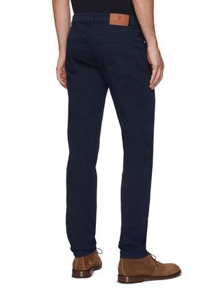 背面 - 点击放大 - BRUNELLO CUCINELLI - 真皮拼贴修身棉质牛仔裤