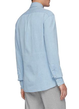 背面 - 点击放大 - BRUNELLO CUCINELLI - 水洗纯棉牛仔衬衫