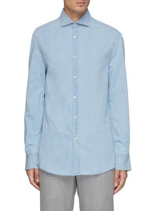 首图 - 点击放大 - BRUNELLO CUCINELLI - 水洗纯棉牛仔衬衫