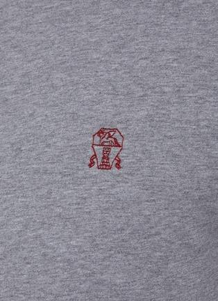 - BRUNELLO CUCINELLI - logo纯棉T恤