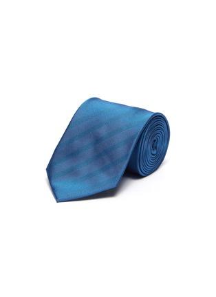 首图 - 点击放大 - STEFANOBIGI MILANO - PERMANENT人字形纹理真丝领带