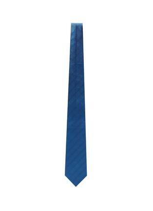 模特儿示范图 - 点击放大 - STEFANOBIGI MILANO - PERMANENT人字形纹理真丝领带