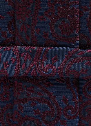 细节 - 点击放大 - STEFANOBIGI MILANO - TARO植物图案提花真丝领带