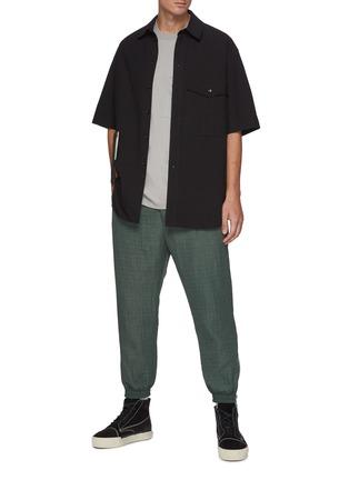 模特儿示范图 - 点击放大 - SONG FOR THE MUTE - 小丑图案流苏缀饰纯棉工装衬衫