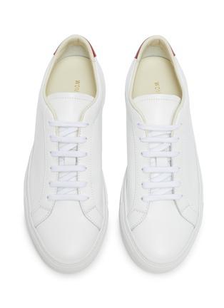 细节 - 点击放大 - COMMON PROJECTS - RETRO LOW拼色真皮运动鞋