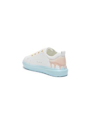 细节 - 点击放大 - WiNK - SORBET DRIP儿童款拼色真皮运动鞋