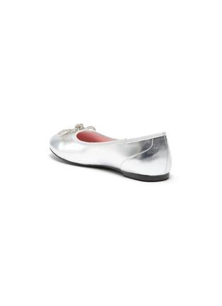 细节 - 点击放大 - WiNK - SODA POP GLAM儿童款蝴蝶结点缀真皮平底鞋