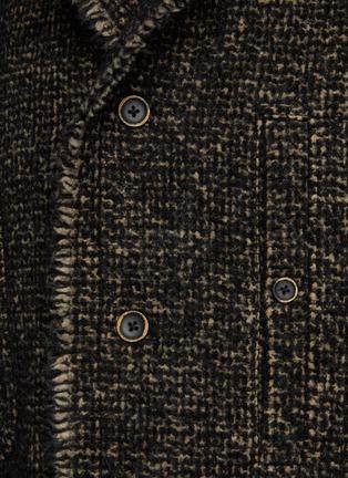 - UMA WANG - 拼色毛边衬衫式夹克