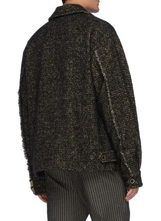 背面 - 点击放大 - UMA WANG - 拼色毛边衬衫式夹克
