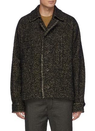 首图 - 点击放大 - UMA WANG - 拼色毛边衬衫式夹克