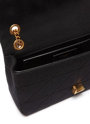 细节 - 点击放大 - SAINT LAURENT - JAMIE中号品牌标志绗缝羊毛单肩包
