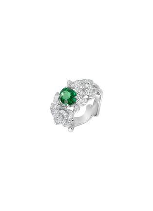 细节 - 点击放大 - CENTAURI LUCY - Hobbema霍贝玛钻石沙弗莱石18k白金戒指