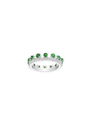 首图 - 点击放大 - CENTAURI LUCY - HYACINTH钻石及沙弗萊石点缀18K白金戒指