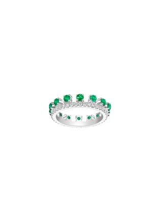 首图 - 点击放大 - CENTAURI LUCY - HYACINTH钻石绿宝石18K白金戒指