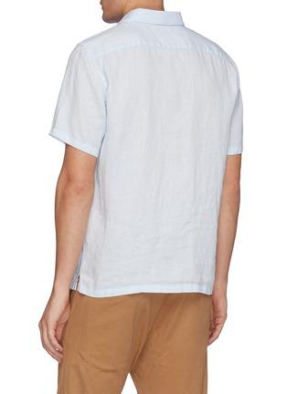 背面 - 点击放大 - THEORY - 亚麻短袖衬衫